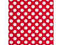 Dekostoff Canvas Sevenberry red dots
