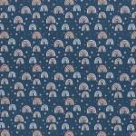 Baumwolle - Kim Regenbogen blau