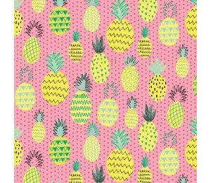 Baumwolle - Patchwork Summerlicious Ananas koralle