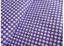 Stoff lila weiß gepunktet