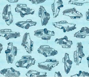 Baumwolle - Patchwork Motorin hellblau Quilting Treasures