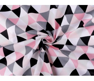 Baumwolle - Grafische Muster Triangle rosa