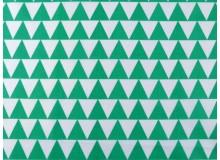 Baumwolle - Dreiecke türkis