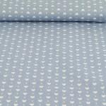 Baumwolle Herzen jeansblau