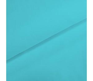 Baumwoll Popeline - Uni Capri blau türkis kochfest