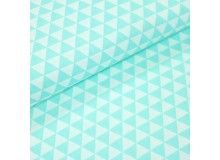 Baumwoll Twill - Triangles mint