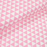 Baumwoll Twill - Triangles rosa
