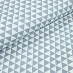 Baumwoll Twill - Triangles grau
