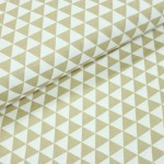 Baumwoll Twill - Triangles beige