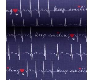 REST 1,30m Baumwolle - Keep Smiling weiß