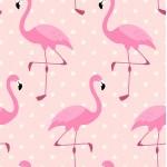 Baumwolle Flamingo Dots rosa