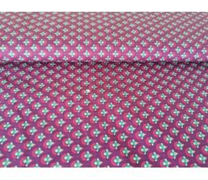 Baumwolle - Waben lila pink