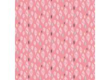 Baumwoll Popeline - Leave Fall rosa