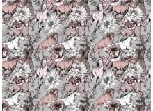 Baumwolle - Wild horses braun