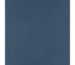 Double Gauze Musselin Uni jeansblau