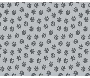 Baumwolle - Pfoten grau