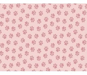 Baumwolle - Pfoten rosa