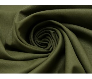 Baumwolle - Uni oliv grün