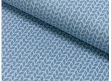 Baumwolle geflochten Zopfmuster rauchblau