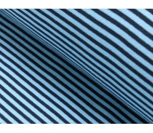 Ringelbündchen hellblau marine Bündchen gestreift