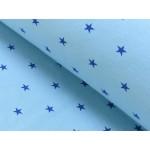 Bündchen kleine Sterne hellblau