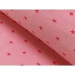 Bündchen kleine Sterne rosa