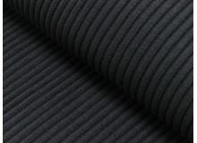 Bündchen Uni - Heavy Rib Rippe schwarz