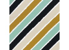 French Terry - Diagonally by lycklig design goldgelb mint