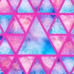 Jersey - Aquarell Triangles pink