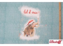 Bio Summersweat Lillestoff - Let it snow Panel