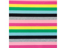 Jersey - Multicolor Lines Pink