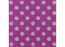 Jersey - Strickmuster Dots pink