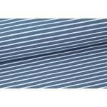 Stoffonkel Biojersey Streifen nachtblau