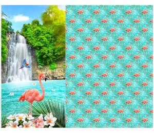 Jersey Digitaldruck Flamingo Panel