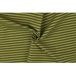 Jersey - Ringel Streifen khaki grün
