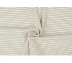 Jersey - Ringel Streifen beige sand