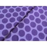 Stretchjersey Big Maxi Dots - lila auf flieder