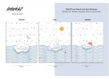 VORBESTELLUNG Summerweat - Bio Lillestoff Antarktis Panel Eisbär