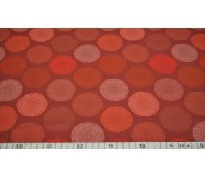 Jersey - Mandala braun orange