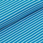 Biojersey Streifen - blau-weiß