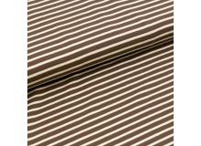 Biojersey Streifen - dunkelbraun-hellbeige