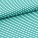 Biojersey Streifen - mint-weiß