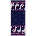 Jersey - Bordüre Lama in dunkelblau pink