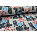 French Terry - Cool Riders grau