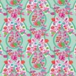 Jersey Flora Blütenranke mint von Swafing