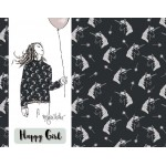 Bio Jersey Lillestoff - Happy Girl Einhorn