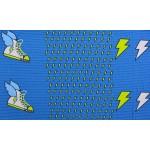 Jersey - Panel Fast as lightning blau lime
