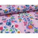 Jersey Flora Blütenranke rosa von Swafing