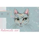 Bio Jersey Lillestoff - Mademoiselle Chat Panel
