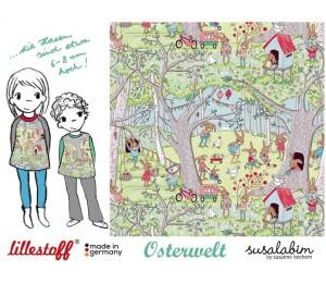 REST 80cm Bio Jersey Lillestoff - Osterwelt Susalabim